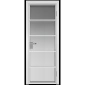 Дверь алюминиевая 14AG Белый Матовый RAL9003