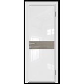 Дверь алюминиевая 6AG цвет Белый Матовый