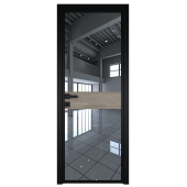 Дверь алюминиевая 6AG цвет Черный Матовый