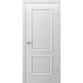 Дверь Акцент ДГ Белая эмаль
