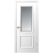 Дверь Акцент ДО-4 Белая эмаль