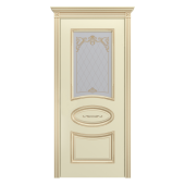 Дверь Ария В3 ДО Слоновая кость (патина золото)