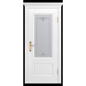 Дверь Аккорд-В1 ДО Белая эмаль (без патины)