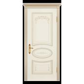 Дверь Ария Грейс В1 ДГ Слоновая кость (патина золото)