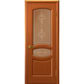 Дверь АНАСТАСИЯ Темный Анегри со стеклом