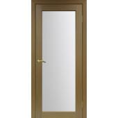 Дверь Парма 401 Стекло 2 Орех Классик NL ЭКО-шпон