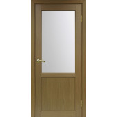 Дверь Парма 402 Стекло 21 Орех Классик NL ЭКО-шпон