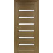 Дверь Парма 407 Стекло 12 Орех Классик NL ЭКО-шпон