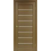 Дверь Парма 408 Стекло 12 Орех Классик NL ЭКО-шпон